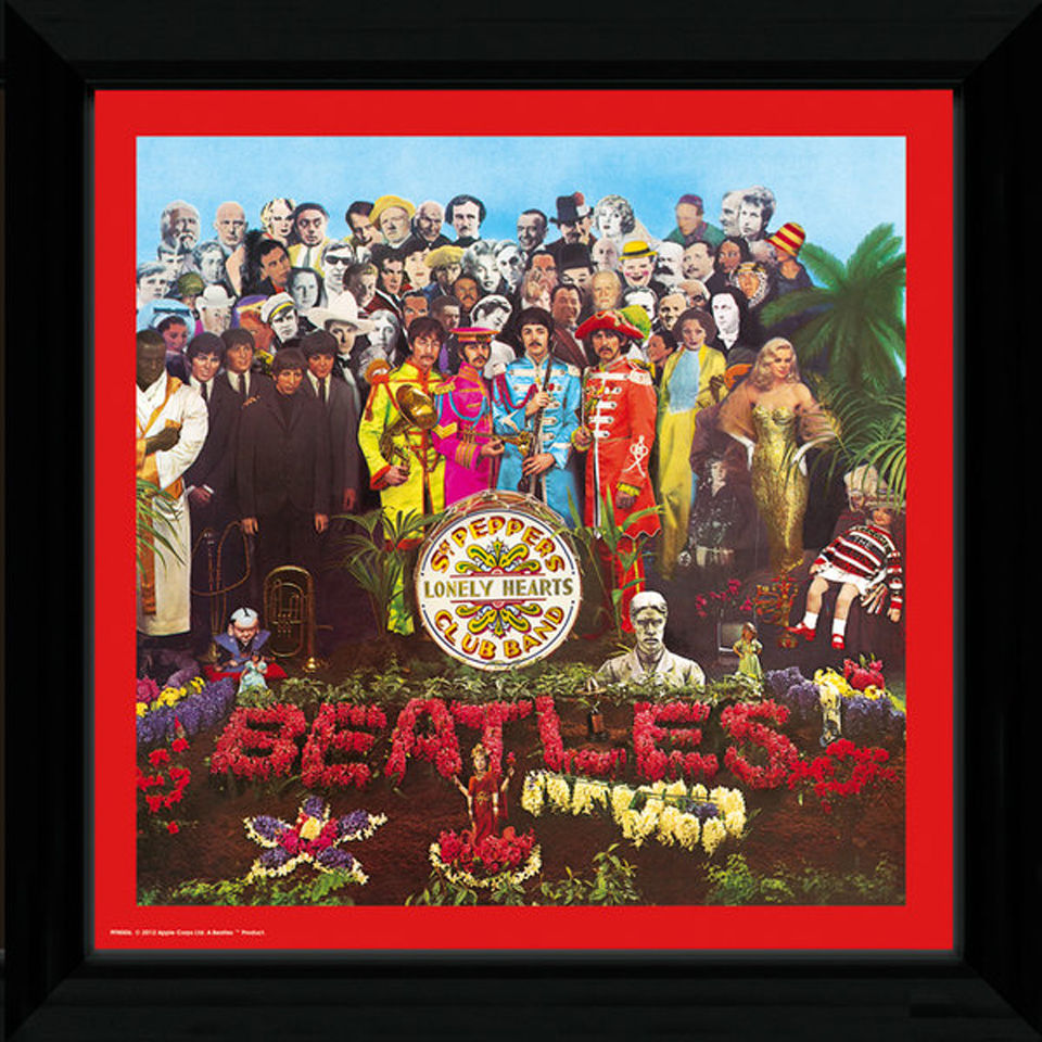 the-beatles-sgt-pepper-12-x-12-framed-album-prints