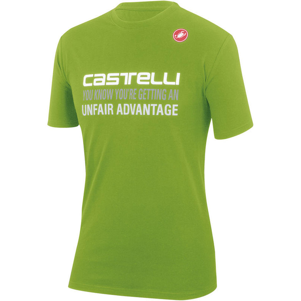 castelli-advantage-t-shirt-green-s