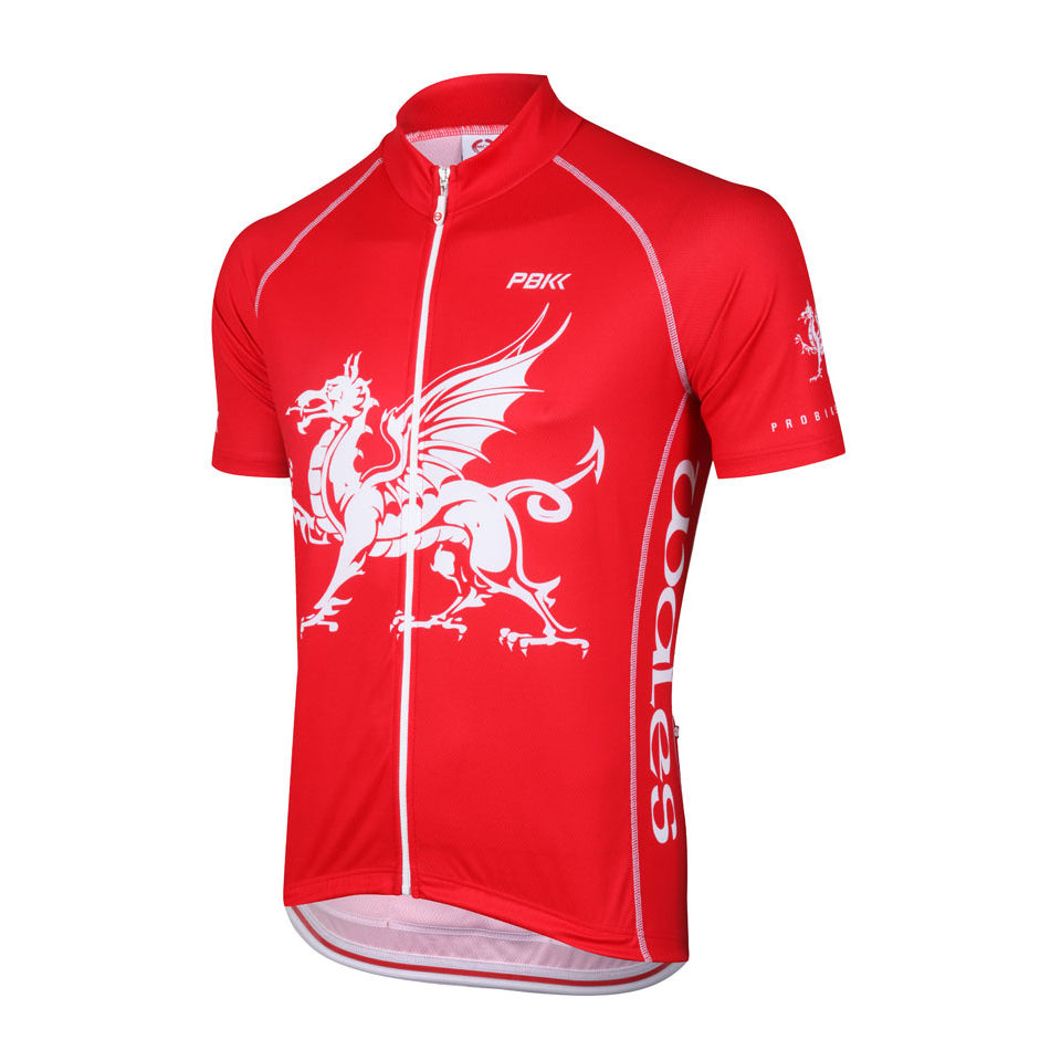 PBK Wales Flag Cycling Jersey Sports amp Leisure TheHutcom