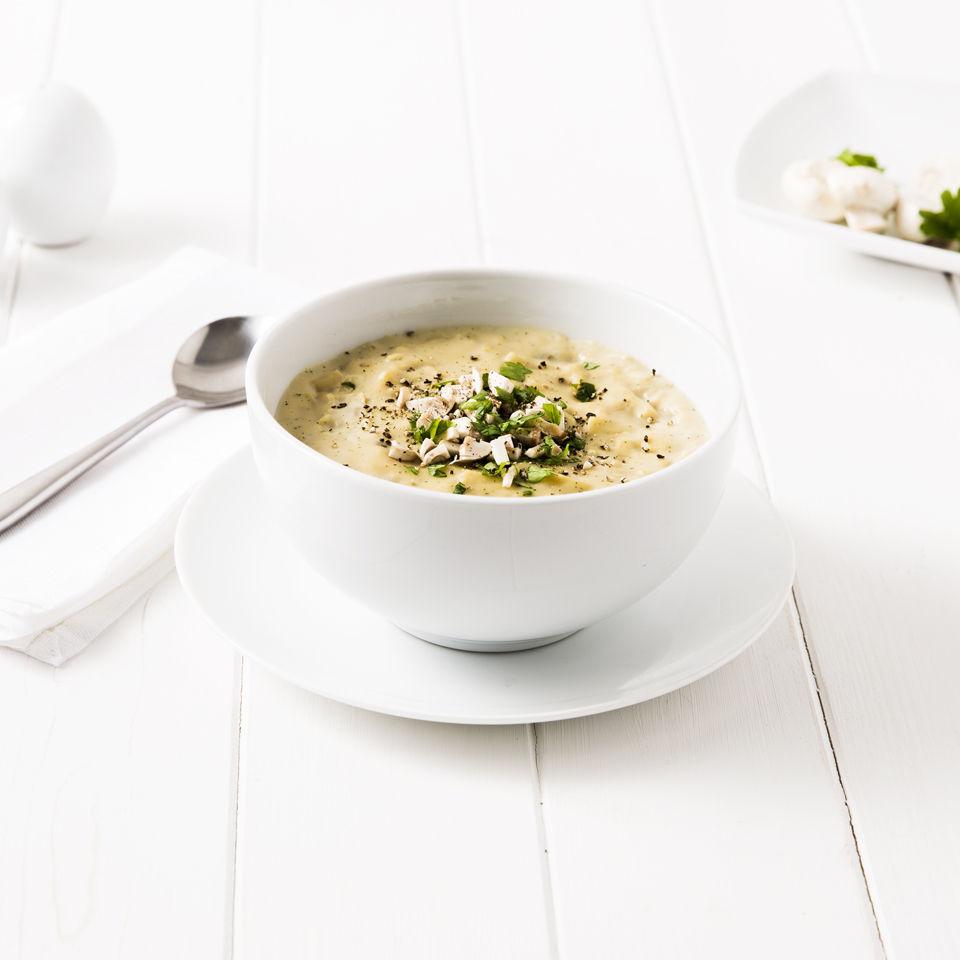 exante-diet-pasta-ham-mushroom-soup