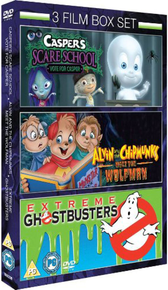 casper-scare-school-alvin-the-chipmunks-meet-the-wolfman-extreme-ghostbusters-vol-1