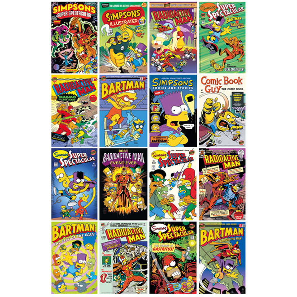 the-simpsons-comic-covers-maxi-poster-61-x-915cm