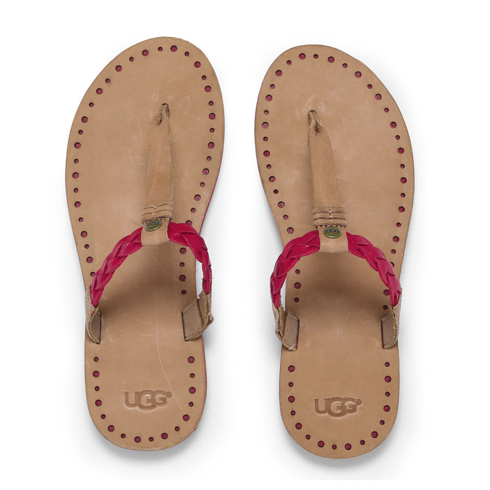 ugg-women-bria-leather-flip-flops-tomato-soup-35-36