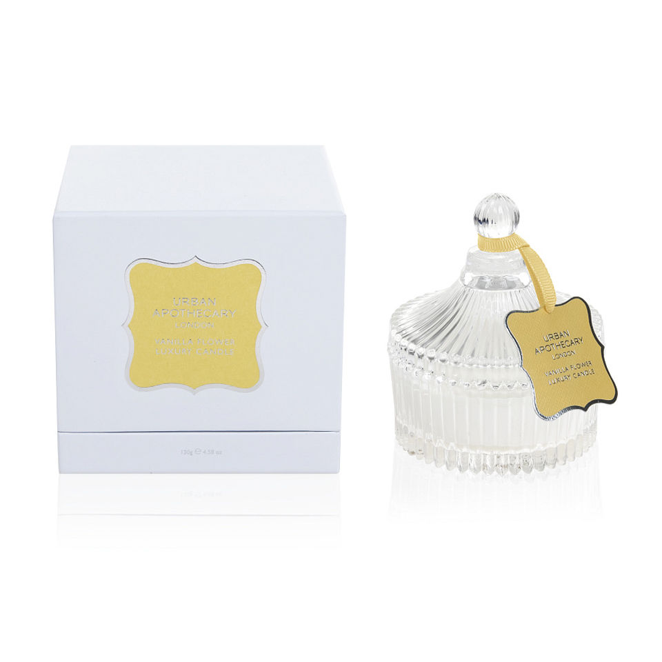 Urban Apothecary Vanilla Flower Luxury White Candle (130g)