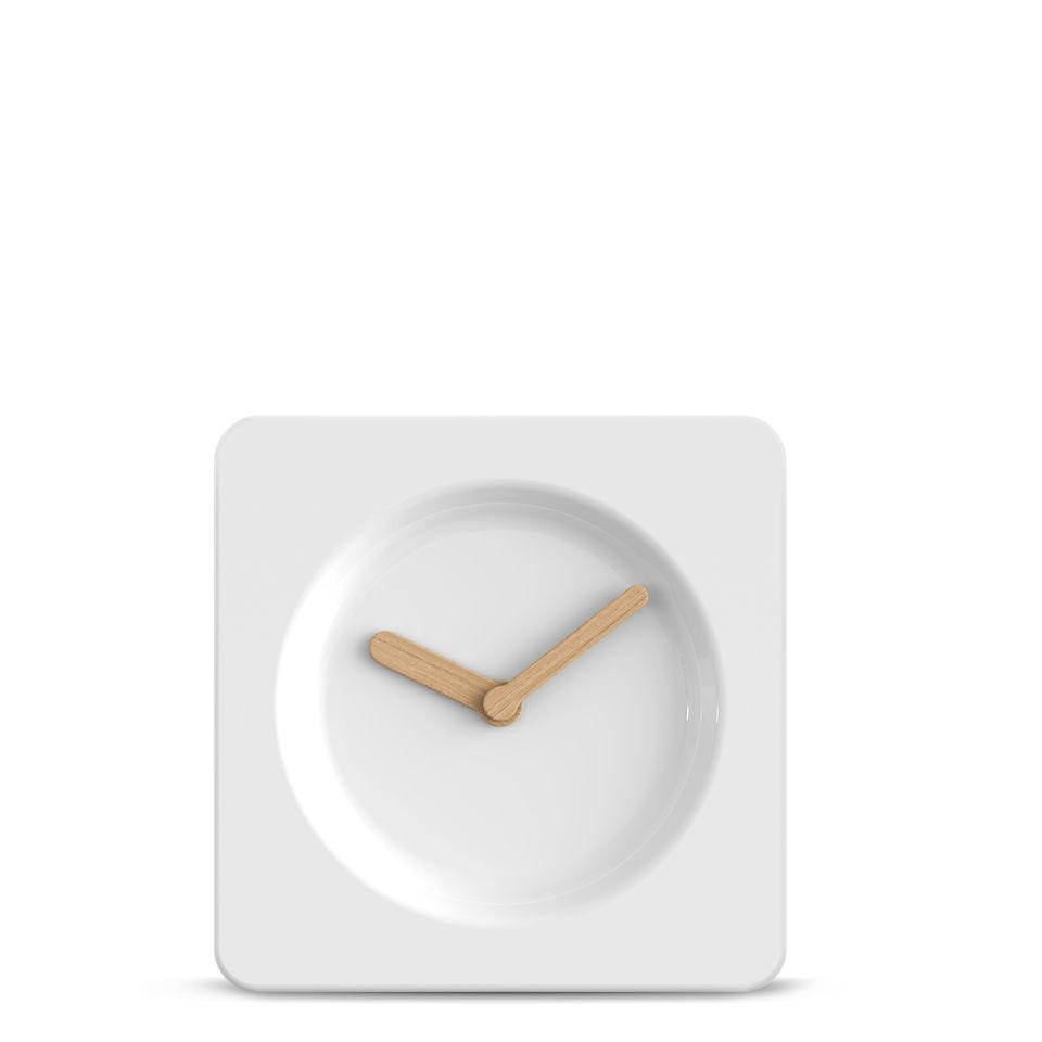 leff-amsterdam-tile-clock-25cm-white