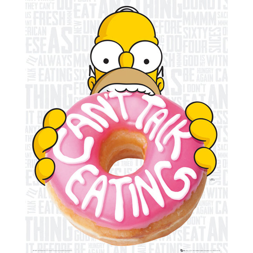 the-simpsons-eating-mini-poster-40-x-50cm