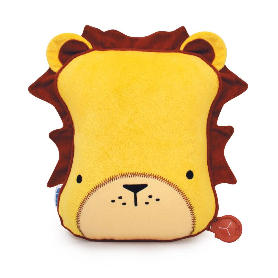 trunki-snoozi-hedz-travel-pillow-blanket-leeroy-the-lion-yellow