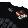 Star Wars Men's Darth Vader Text Head T-Shirt - Black: Image 3