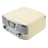GPO Retro Memphis Turntable 4-in-1 Music System with Built in CD and FM Radio - Cream: Image 2