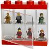 LEGO Mini Figure Display (8 Minifigures) - Bright Red: Image 2