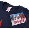 Marvel Men's Captain America Civil War Broken Star T-Shirt - Navy: Image 3