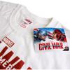 Marvel Men's Captain America Civil War Stance T-Shirt - White: Image 3