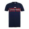 Marvel Men's Captain America Civil War Logo T-Shirt - Navy: Image 1