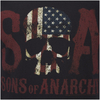 Sons of Anarchy Men's Flag Skull T-Shirt - Black: Image 6