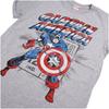 Marvel Men's Captain America Retro T-Shirt - Sports Green: Image 2