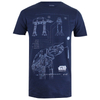 Star Wars Rogue One Men's AT-AT Schematic T-Shirt - Navy: Image 1
