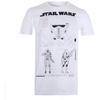 Star Wars Rogue One Men's Death Trooper Schematic T-Shirt - White: Image 1