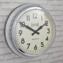 Newgate Giant Electric Wall Clock - Chrome