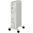 Warmlite WL43003Z Tall Oil Filled Radiator - White - 1500W