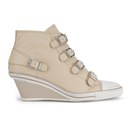 Ash Women's Genial Wedged Leather Trainers - Clay