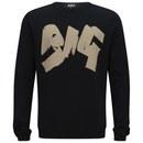 Ashley Marc Hovelle Men's Big Sweatshirt - Black/Discharge