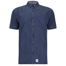 Boxfresh Men's Carfrae Short Sleeved Shirt - Blue Indigo