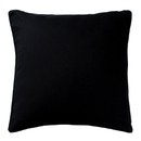 Black Linen Cushion - Black
