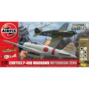 Airfix Curtiss P-40B Warhawk Mitsubishi A6M2b Zero
