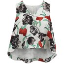 Cameo Women's New Love Short Sleeve Top - Red Peony