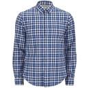 BOSS Green Men's C Bavol Checked Shirt - Blue