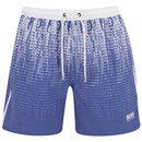 BOSS Hugo Boss Men's Anabas Gradiated Pattern Swim Shorts - Blue