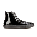 Converse Womens Chuck Taylor All Star Patent Leather HiTop Trainers  Black  UK 3