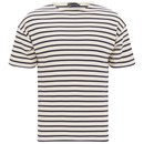 Armor Lux Men's Doélan Breton Stripe T-Shirt - Nature Cream/Navy
