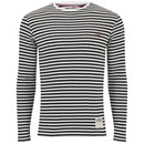Armor Lux Men's Long Sleeve Stripe T-Shirt - White/Navy