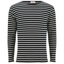 Armor Lux Men's Héritage Breton Stripe Long Sleeve T-Shirt - Navy/Zand