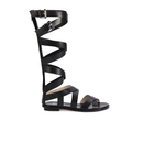 MICHAEL MICHAEL KORS Womens Darby Vachetta Knee High Gladiator Sandals  Black  UK 3