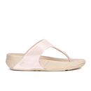 FitFlop Womens Lulu Shimmersuede Toe Post Sandals  Nude  UK 5