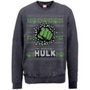 Marvel Comics Hulk Christmas Smash Sweatshirt - Dark Heather