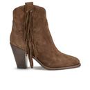 Ash Womens Isha Suede Heeled Cowboy Boots  Sigaro  UK 3