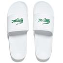 Lacoste Mens Frasier Slide Sandals  WhiteGreen  UK 7