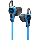 SMS Biosport Water Resistant Smart Earbuds with Heart Monitor - Blue