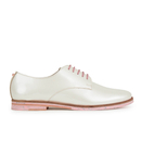 Ted Baker Womens Loomi Patent Leather Oxford Shoes  White  UK 3