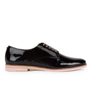 Ted Baker Womens Loomi Patent Leather Oxford Shoes  Black  UK 3