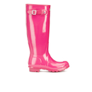 Hunter Womens Original Tall Gloss Wellies  Bright Cerise  UK 3