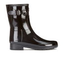 Hunter Womens Original Refined Short Gloss Wellies  Black  UK 3
