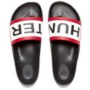 Hunter Mens Original Slide Sandals  Black  UK 8