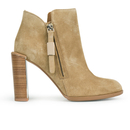 See by Chloe Womens Suede Heeled Ankle Boots  Beige  UK 7