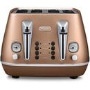 De'Longhi CTI4003.CP Distinta 4 Slice Toaster - Copper Finish