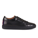 Paul Smith Shoes Mens Nastro Leather Cupsole Trainers  Nero  UK 8