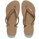 Havaianas Womens Slim Flip Flops  Rose Gold  EU 3536UK 23